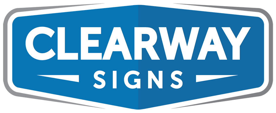 Clearway Signs Logo - blue background with white letters